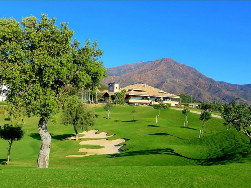Valle Romano Golf 18th Clubhouse